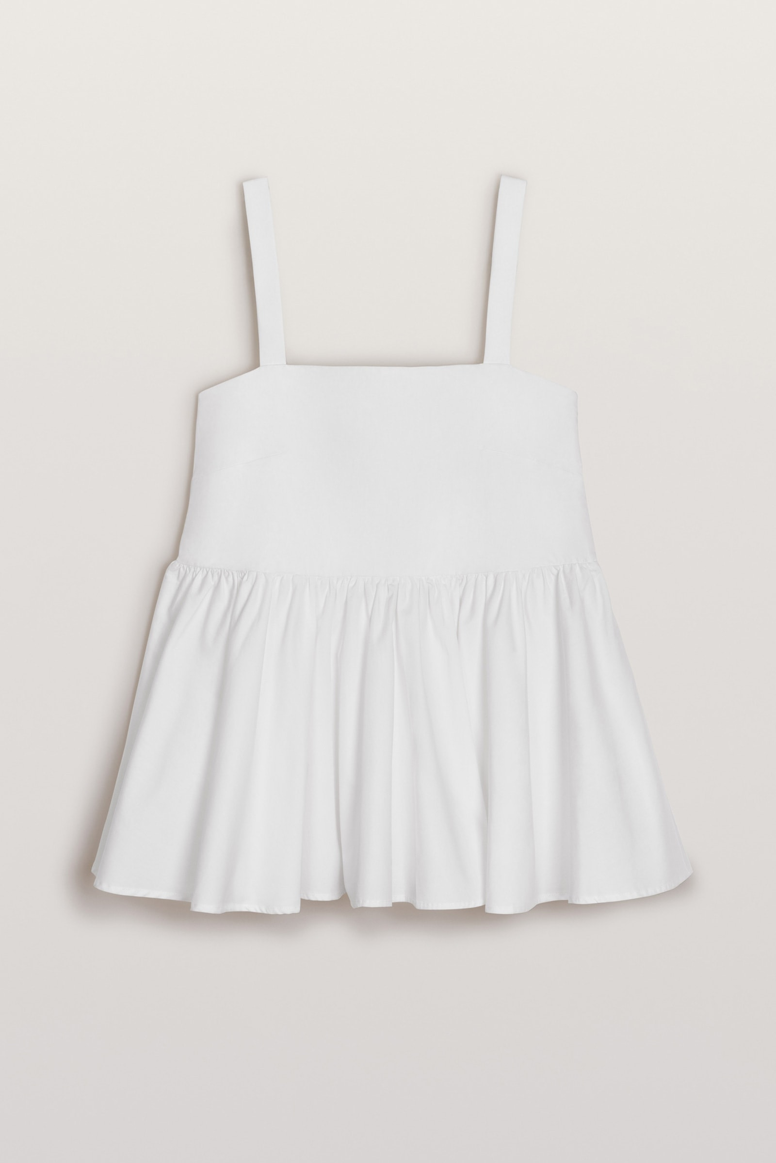 Peplum Sommer Top in Weiß